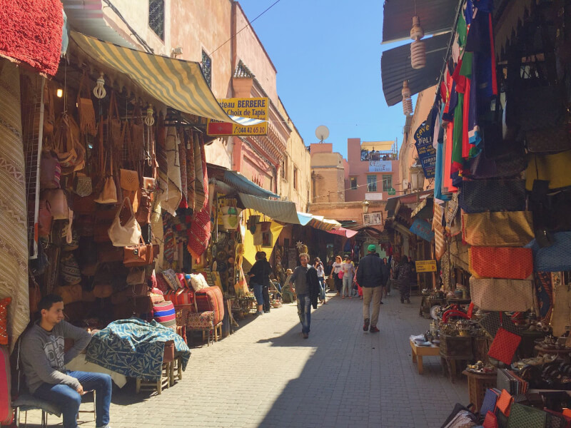 image of souks of Marrakech