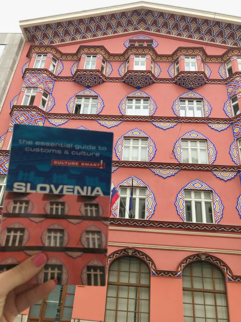 Image of travel guidebook in Slovenia