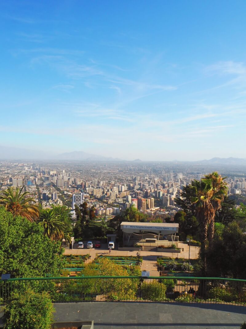 image of view from san cristobel - one of the top things to do in Santiago