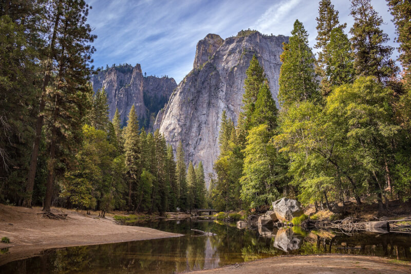 image of Yosemite - best places to travel in summer