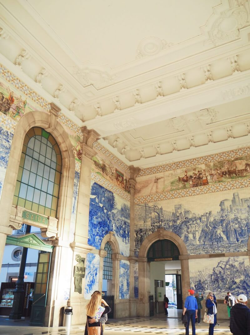 Visiting the São Bento Railway is one of the top things to do in Porto