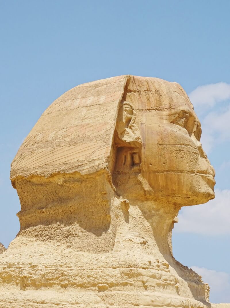 relief of the Sphinx, in likeness of Khafre