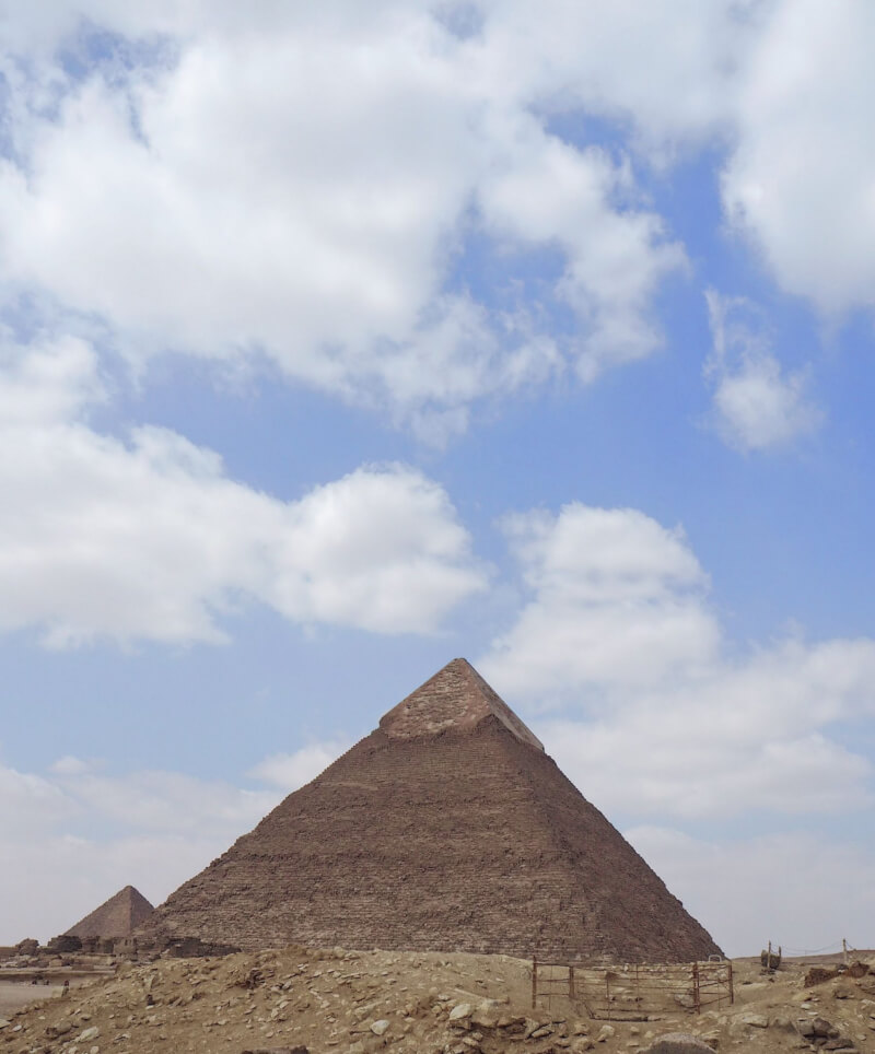 side view of the Pyramid of Khafre