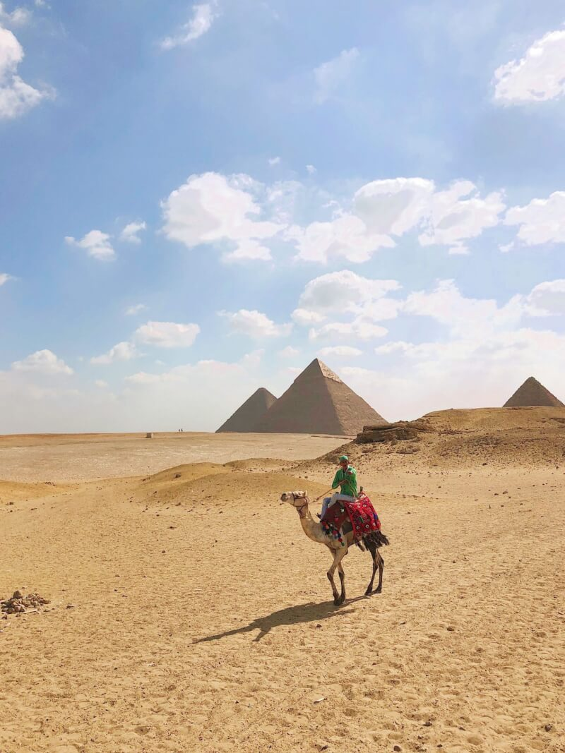 image of visiting Pyramids of Egypt