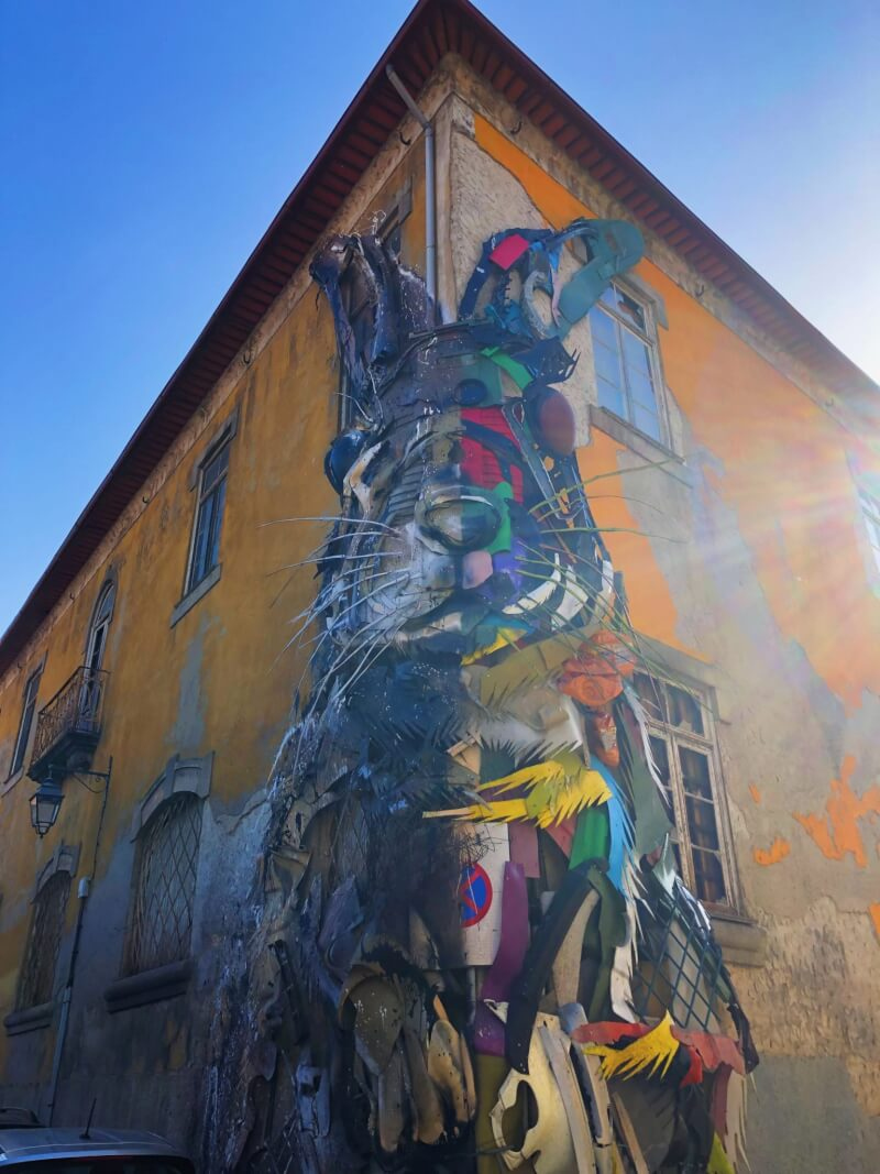 The half rabbit by Bordalo II is one of the top things to do in Porto