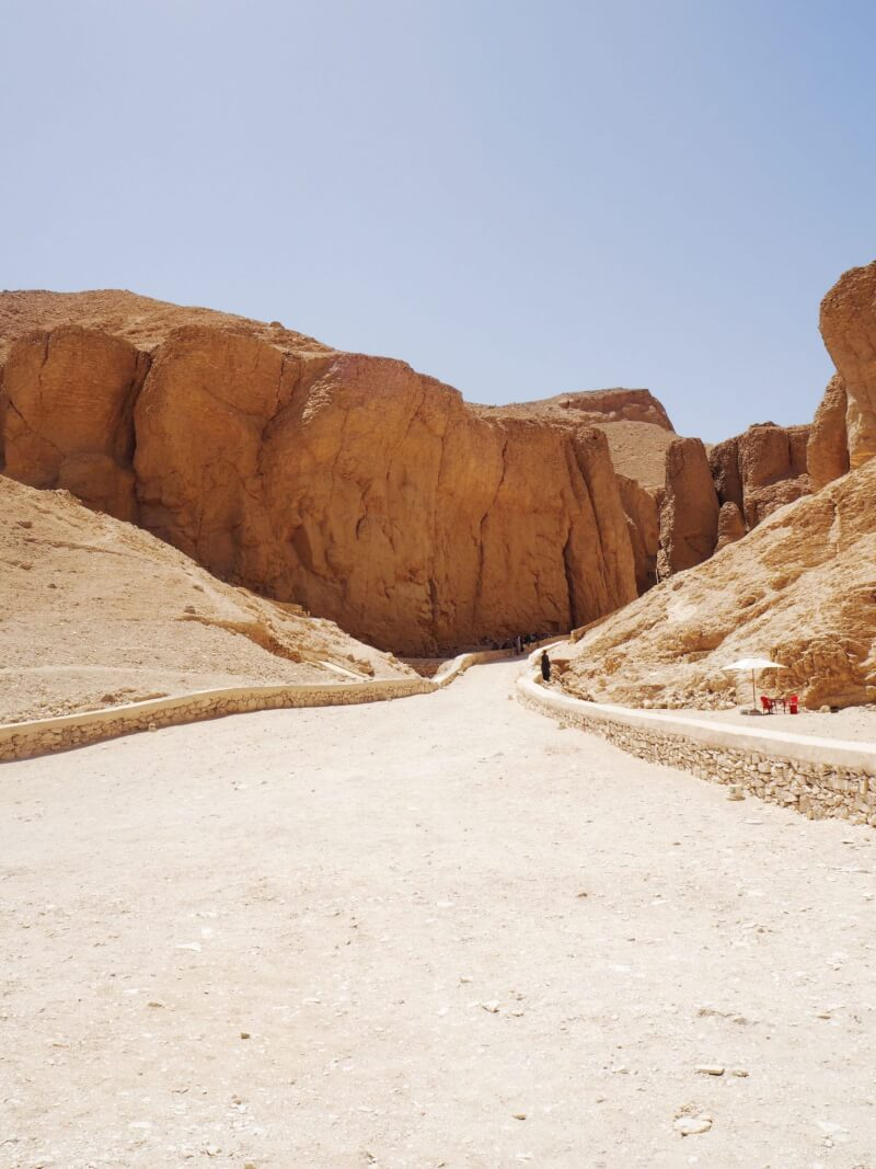 view of arrival when visiting valley of the kings