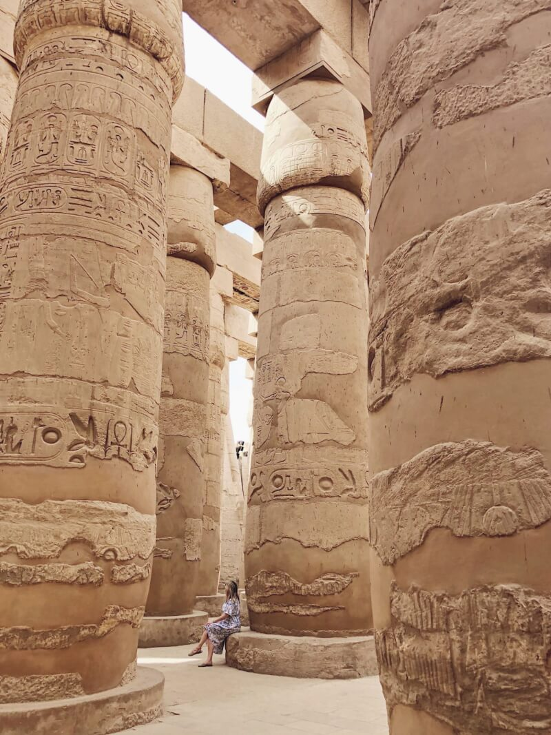 image of the hypostyle hall in Karnak