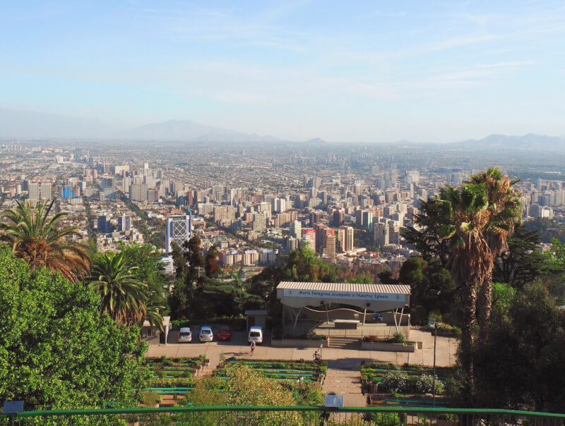 view of Santiago from the top of San Cristobel