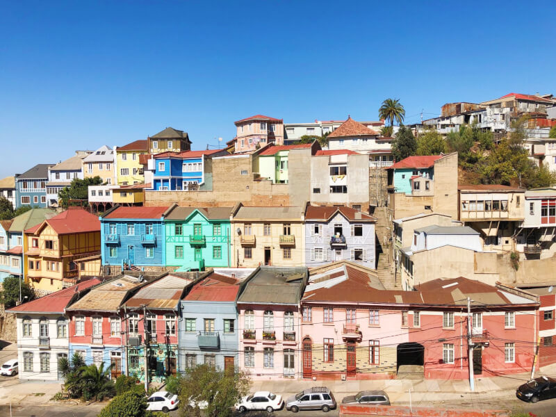 one week in Chile has to include a visit to see the colour houses of Valparaiso