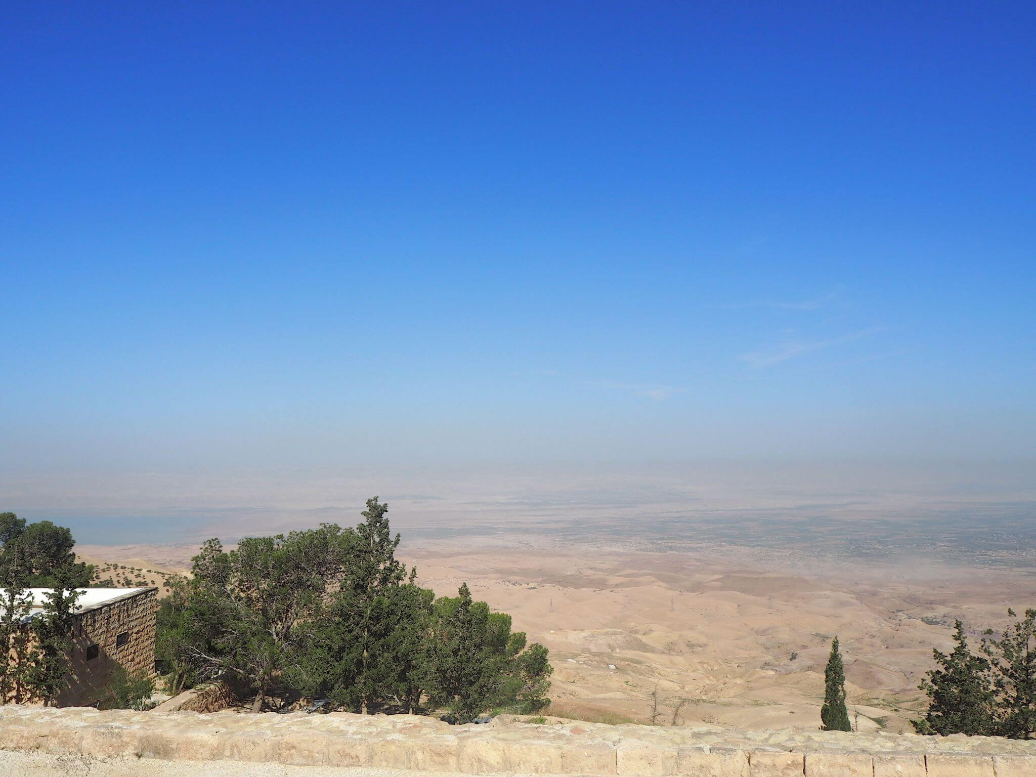 view from Mount Nebo towards Israel - easy day from trip Amman