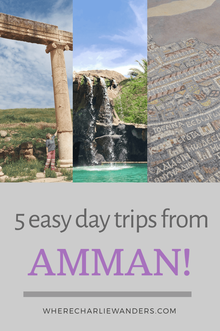 Pinterest graphic for easy days from Amman