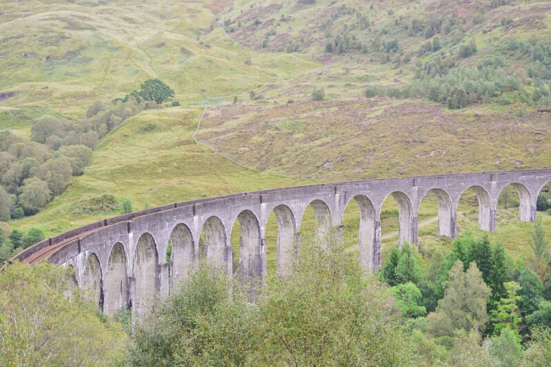 image of viaduct from Glenfinnan Viaduct viewpoint
