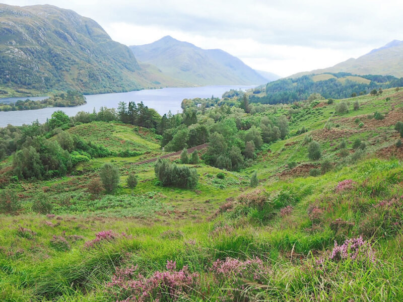 image of Loch Shiel from hike to Glenfinnan Viaduct viewpoint