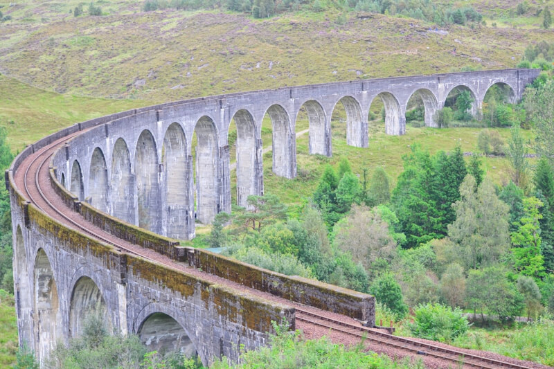Image of the Viaduct from the Glenfinnan Viaduct Viewpoint