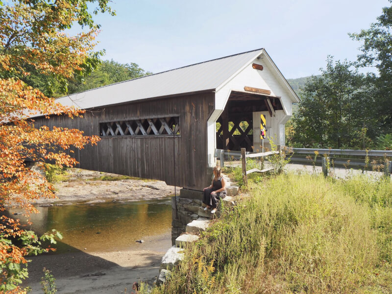 image of West Dummerston, the longest covered bridge in Vermont