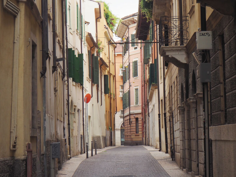 image of streets of Centro Storico in Verona