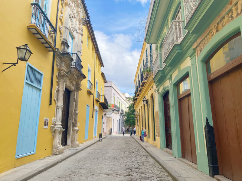 image of colourful streets of Old Havana
