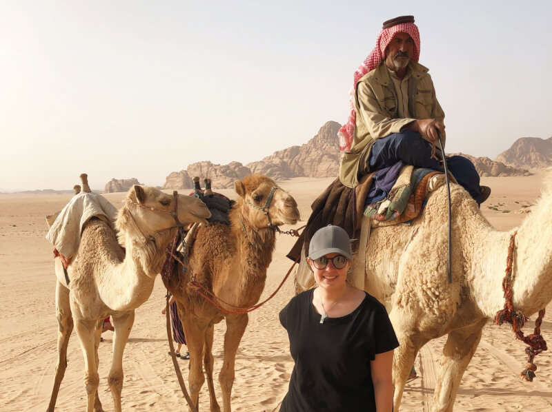 image of Bedouin and camels