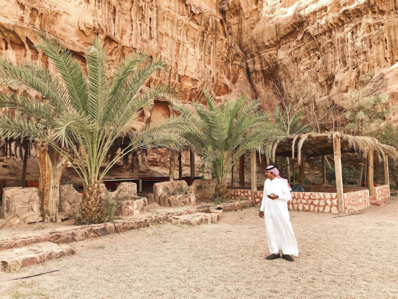 image of Bedouin at the Wadi rum camp