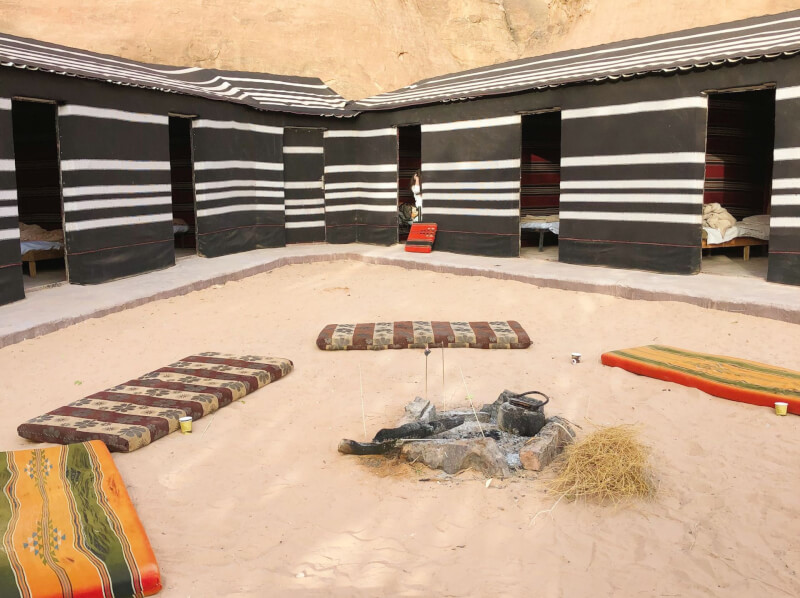 image of a Wadi Rum Bedouin camp