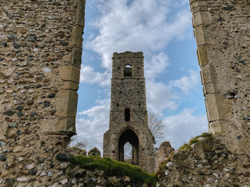 image of church ruins in Norfolk