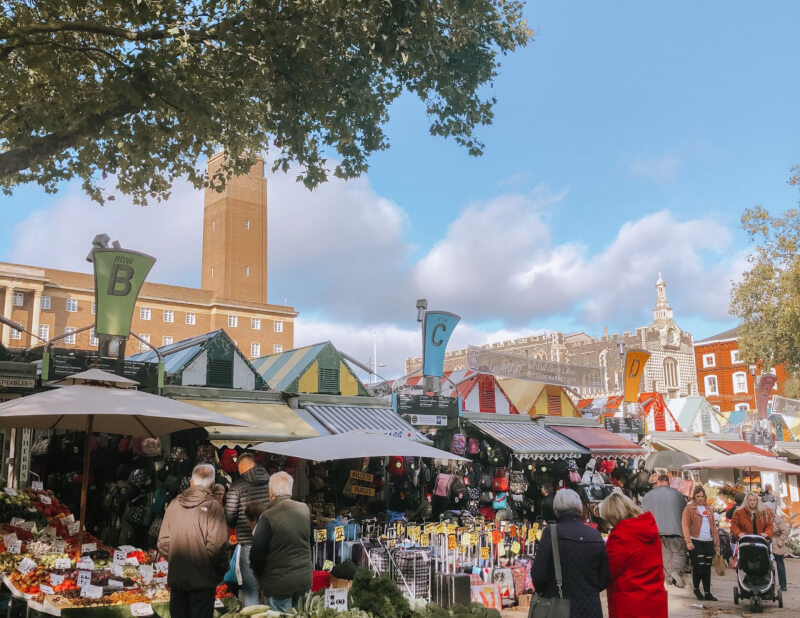 image of Norwich Market, a top thing to do in Norfolk