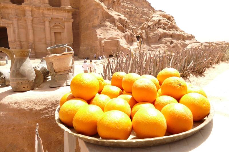 image of oranges at Petra