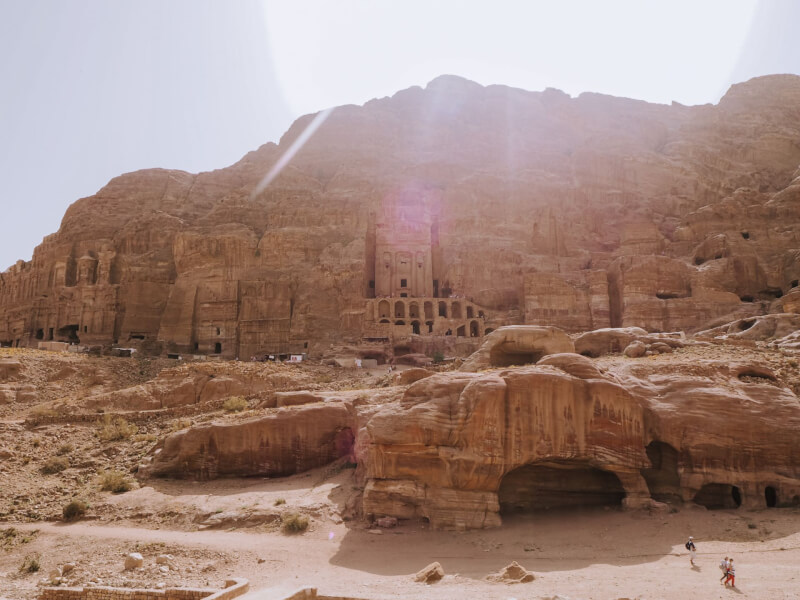 image of the Royal Tombs in Petra