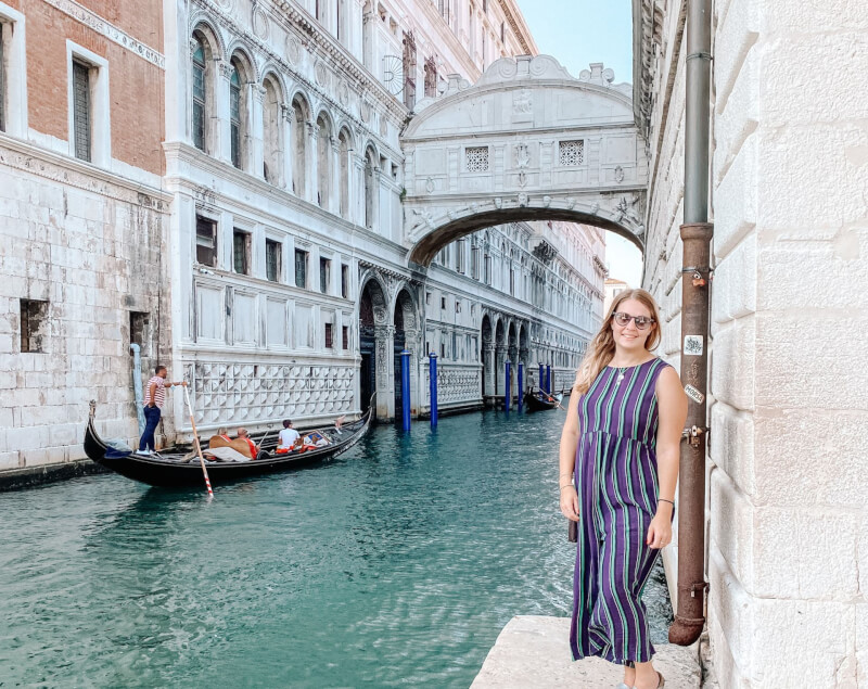 image of standing in front of the bridge of sighs