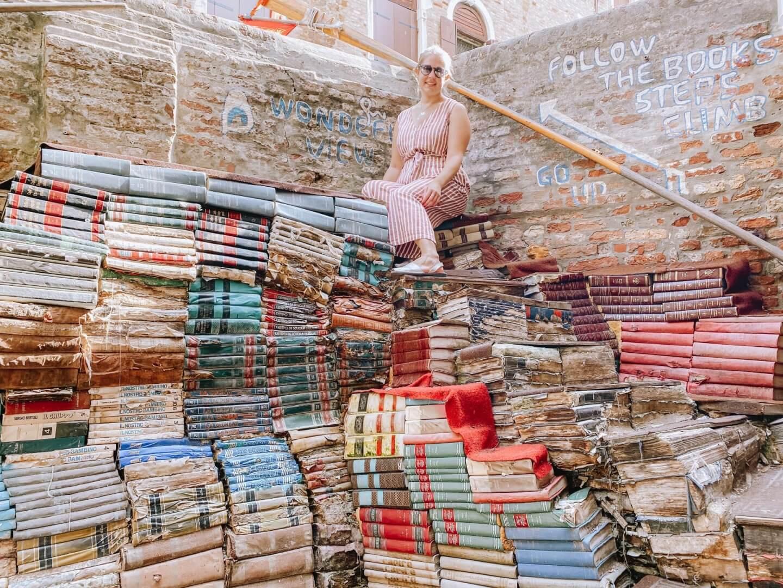 image of books at Libreria Acqua Alta on 3 days in Venice