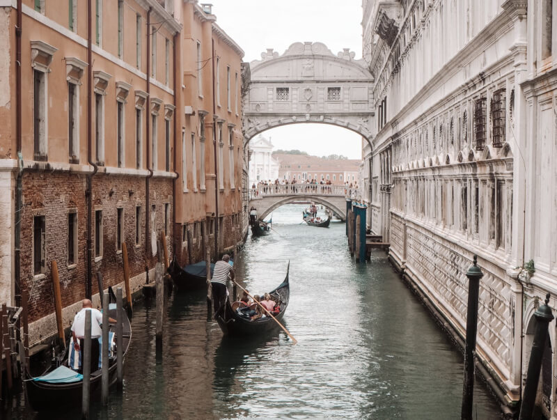 image of best views in venice - look out over Bridge of Sighs