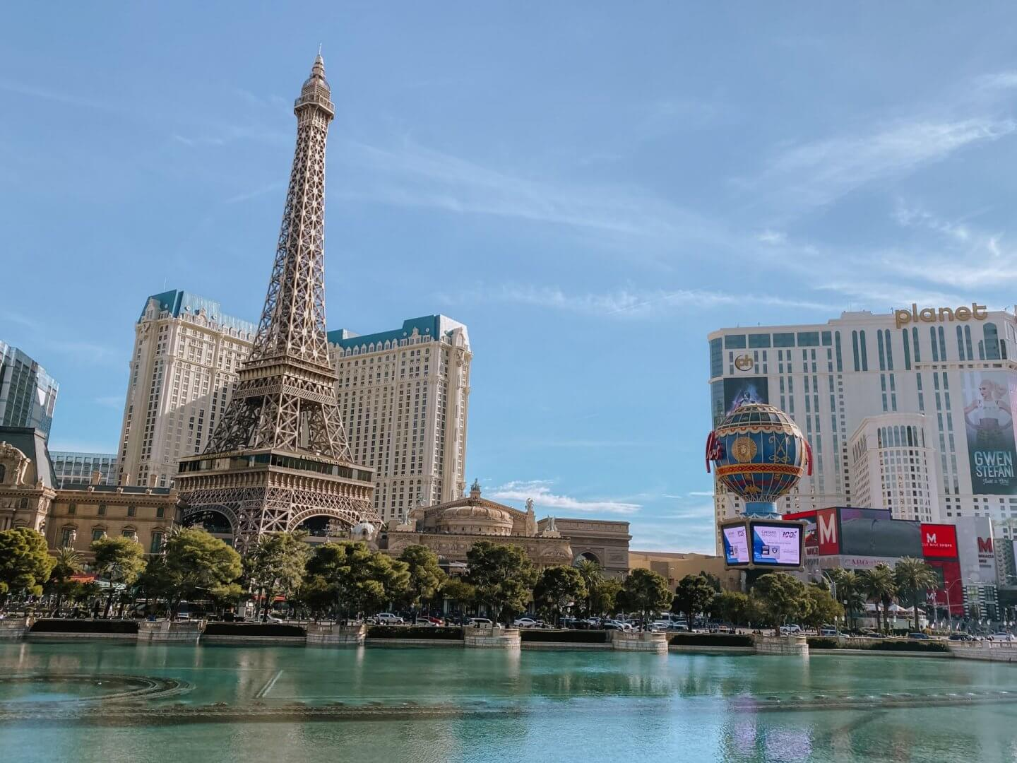 image of eiffel tower on the las vegas strip