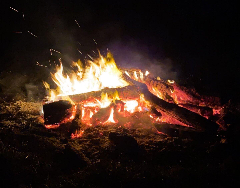 image of bonfire on guy fawkes night