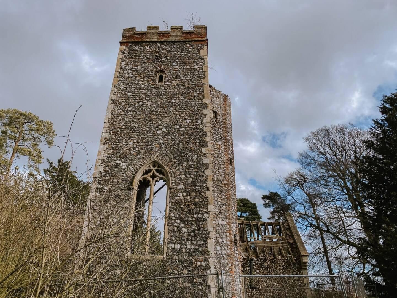 image of Saint Wandregesilius, Bixley ruins