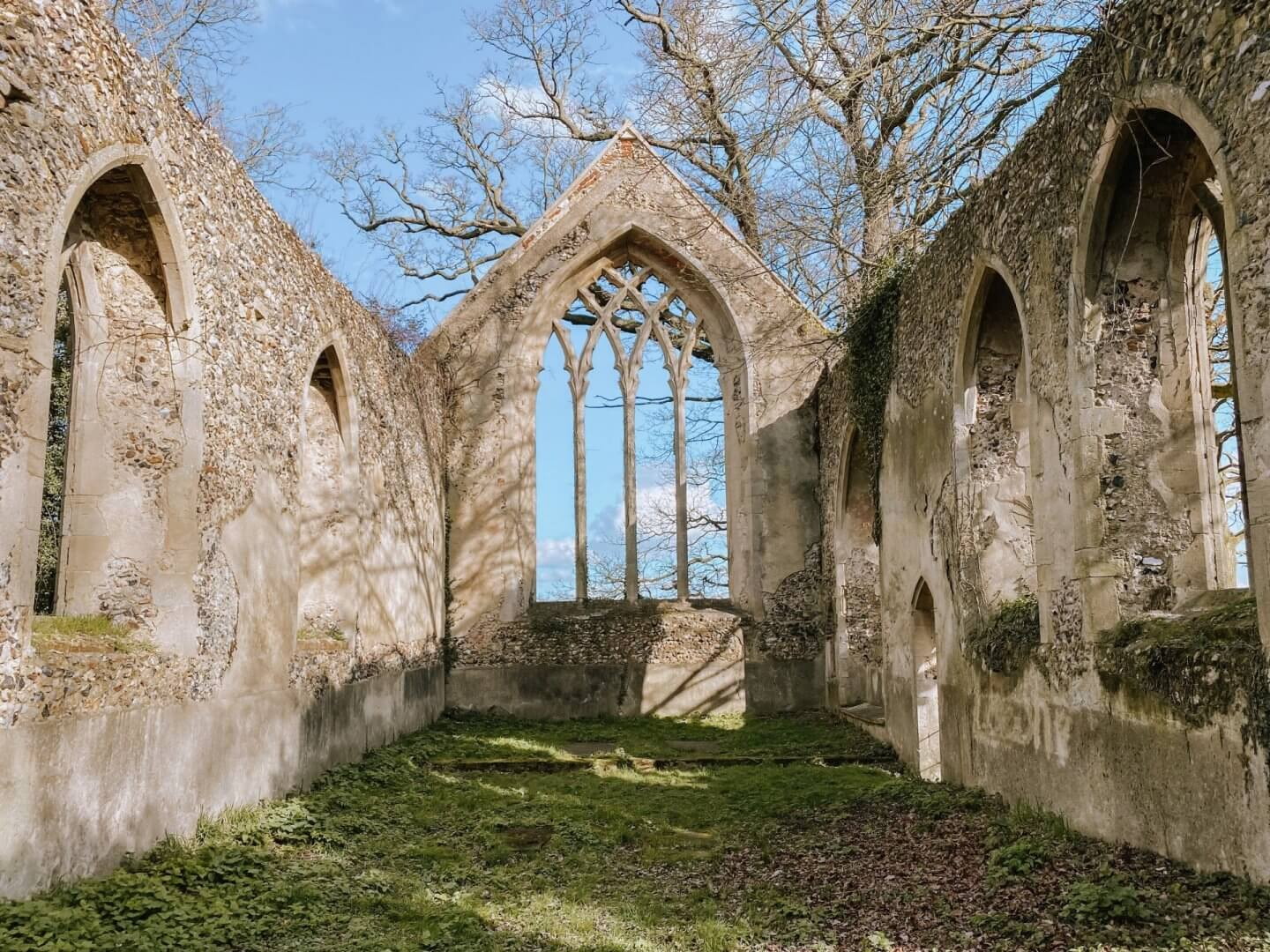 image of the ruins of St Mary's, Tivetshall St Mary, Norfolk