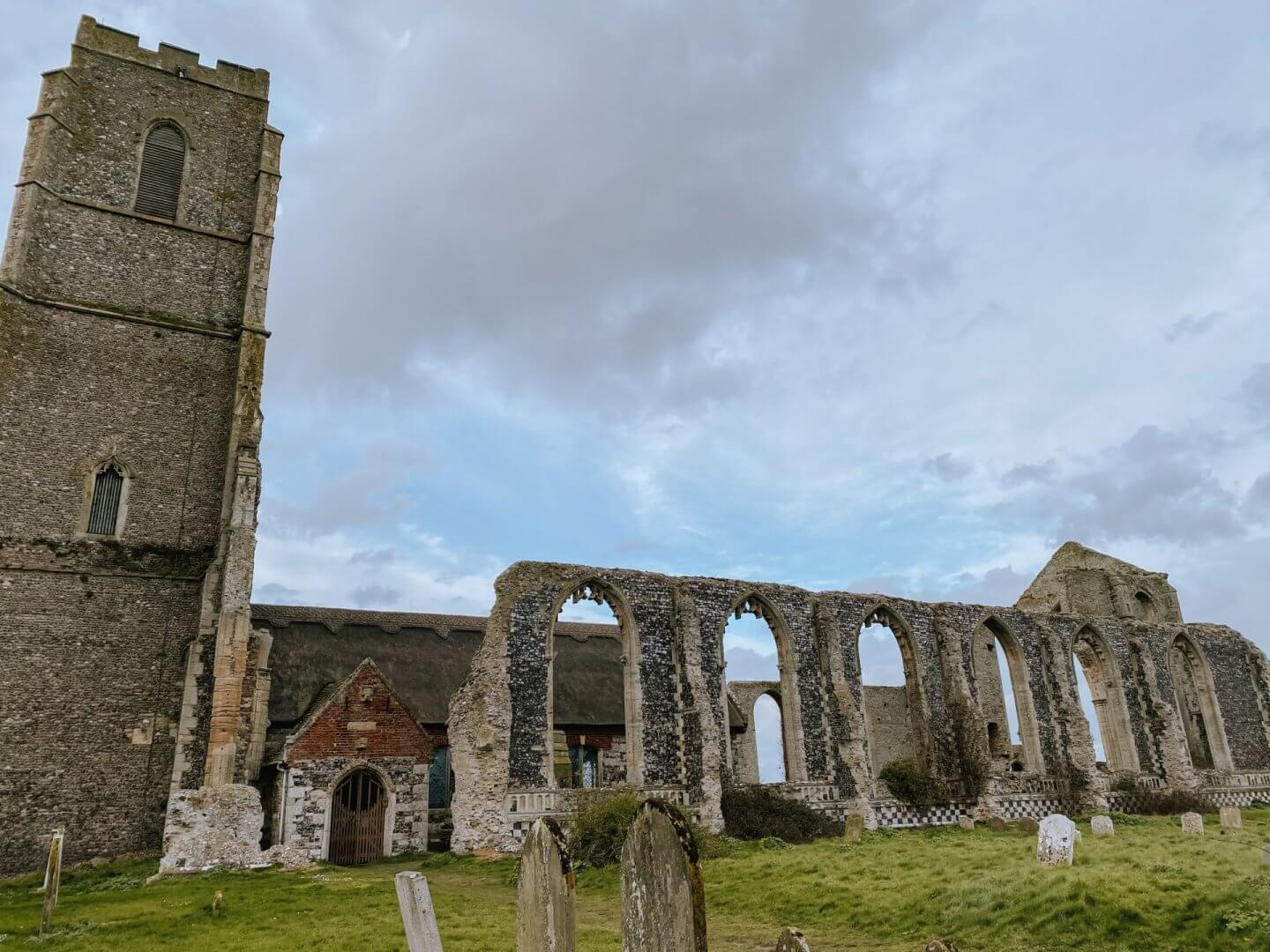 image of church ruins in Covehithe, Suffolk