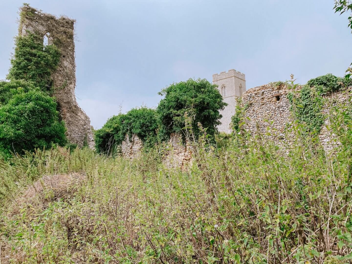 image of church ruins in Antingham, Norfolk