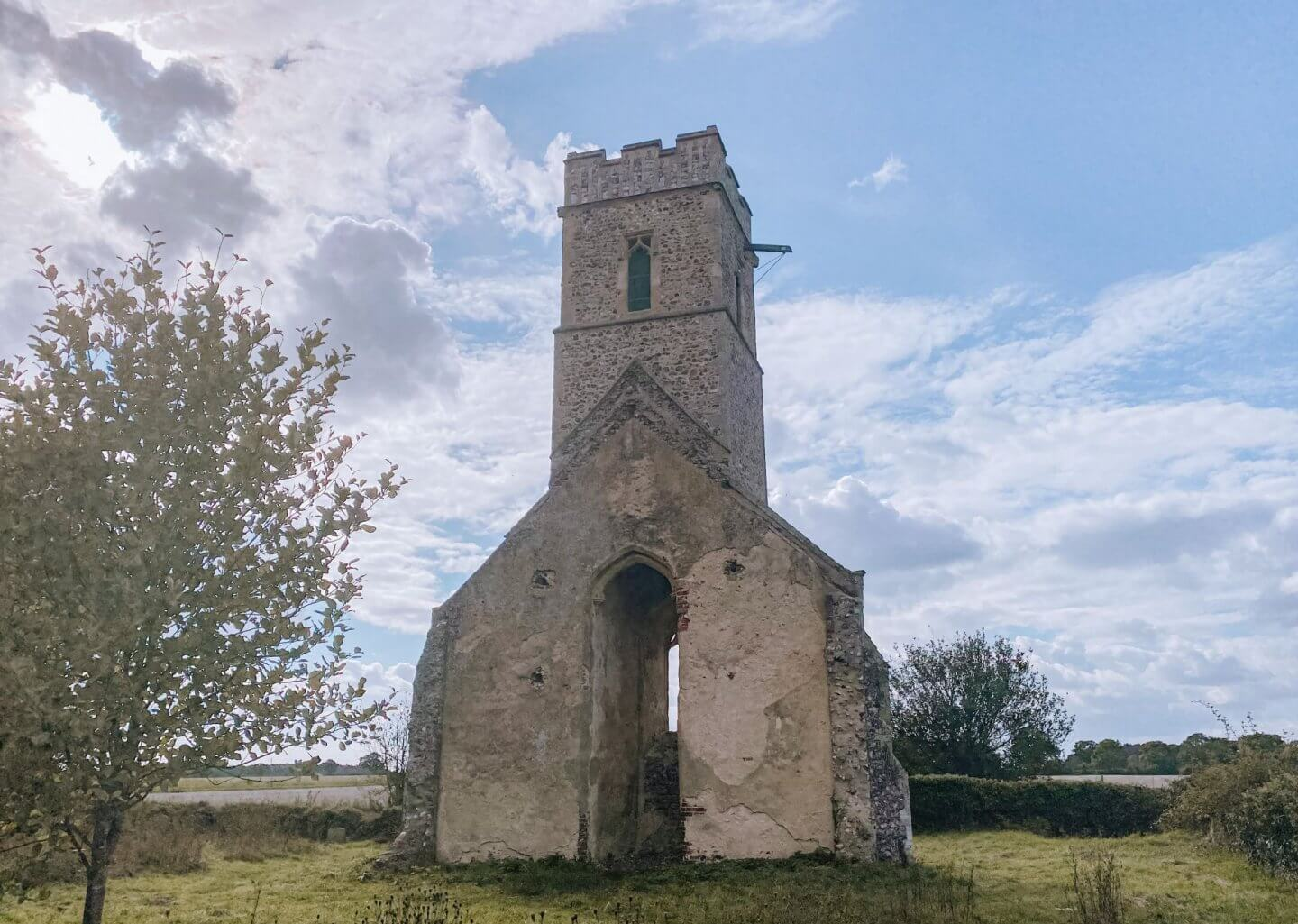 image of ruined church in Panxworth