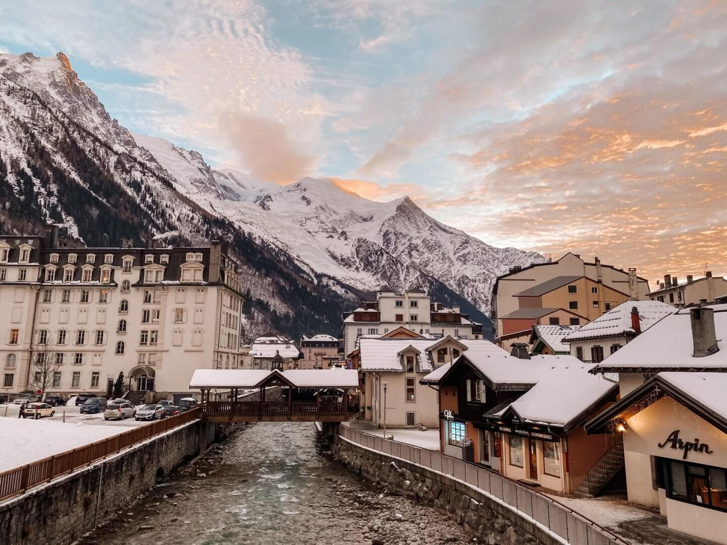 image of the town of Chamonix, France