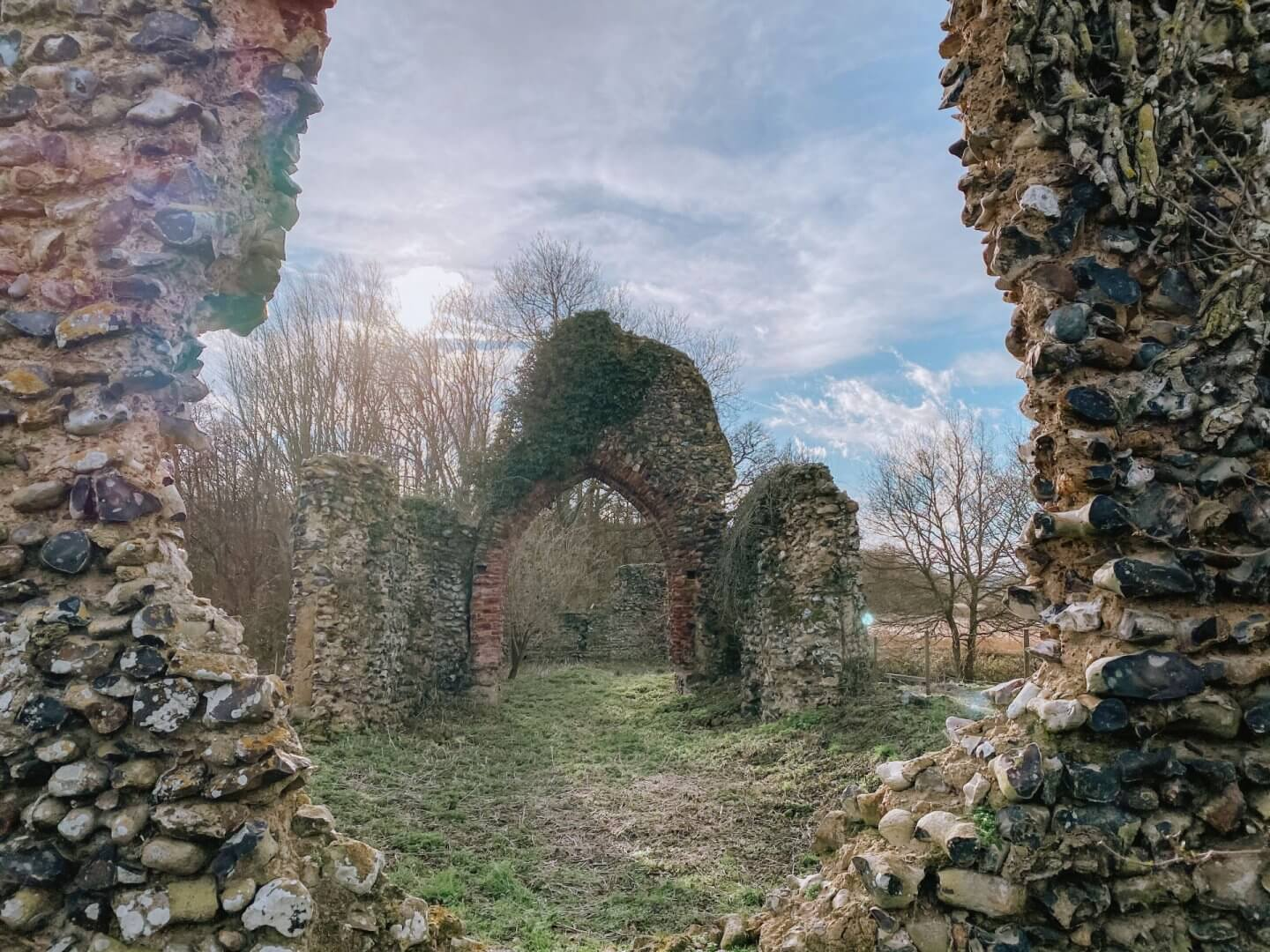 image of ruins of st saviours church, Surlingham, Norfolk