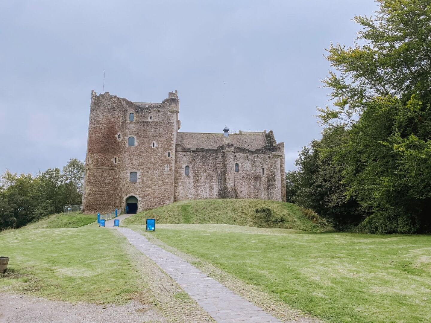 image of Doune Castle, castles in Scotland to visit. Location of Outlander filming