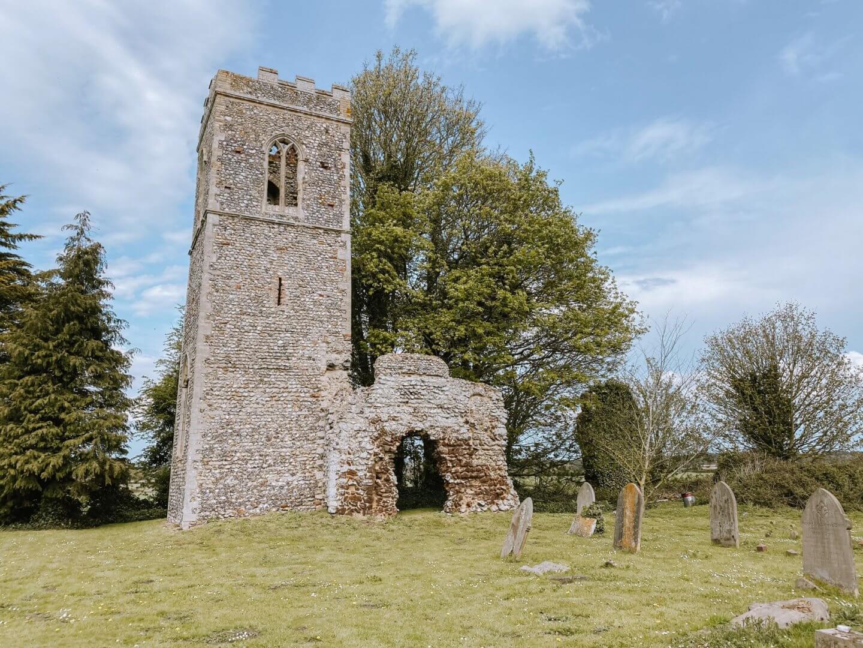 image of Norfolk church ruins of St Mary, Burgh Parva