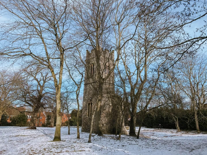 image of ruins of St Bartholomew, Norwich, Norfolk