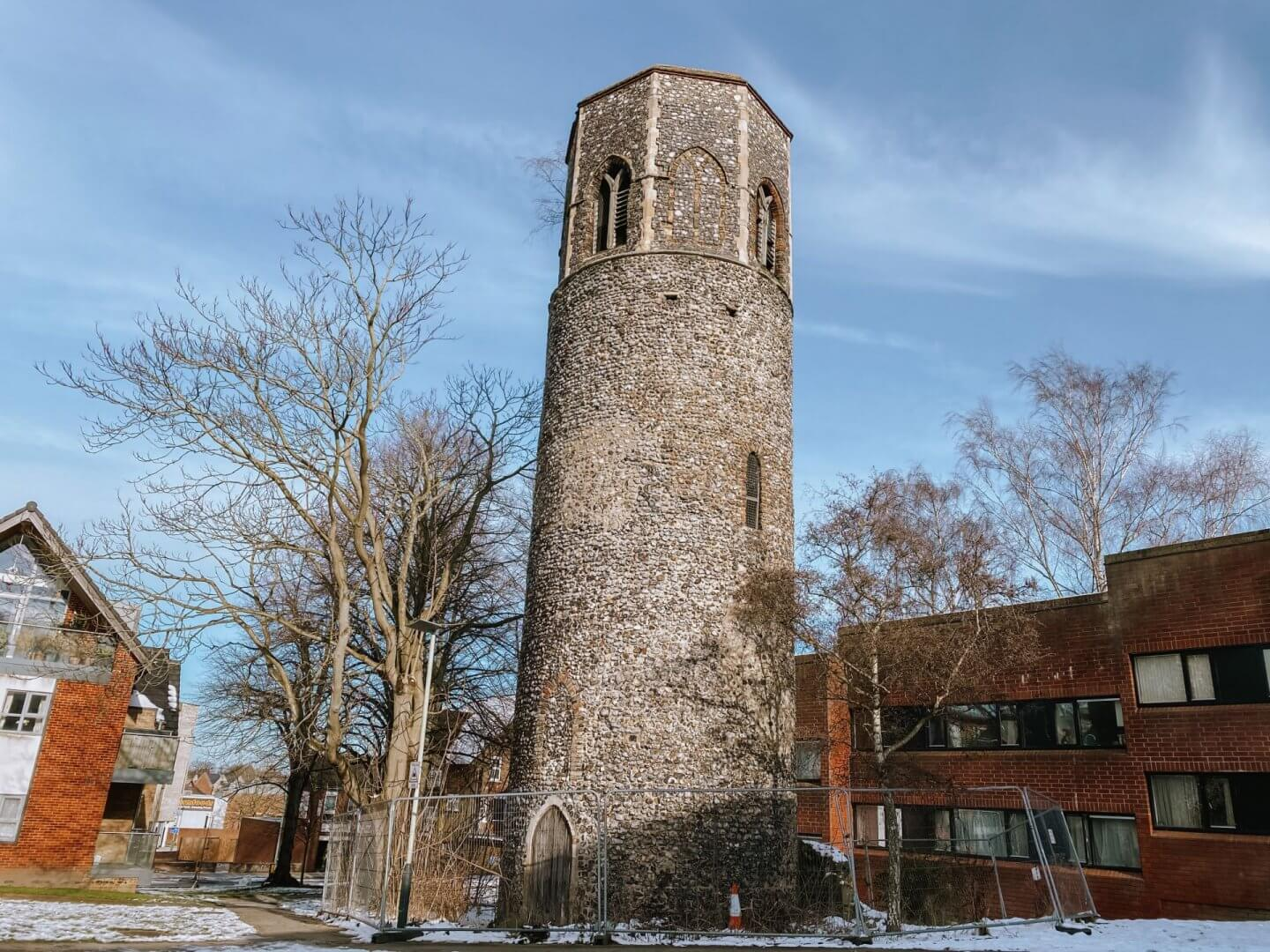 image of ruins of St Benedicts, Norwich, Norfolk
