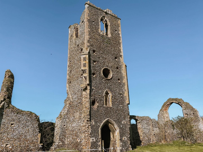image of Norfolk church ruins in Roudham, Norfolk