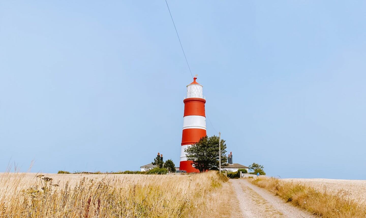 Image of Happisburgh lighthouse in one of the Norfolk Coastal villages